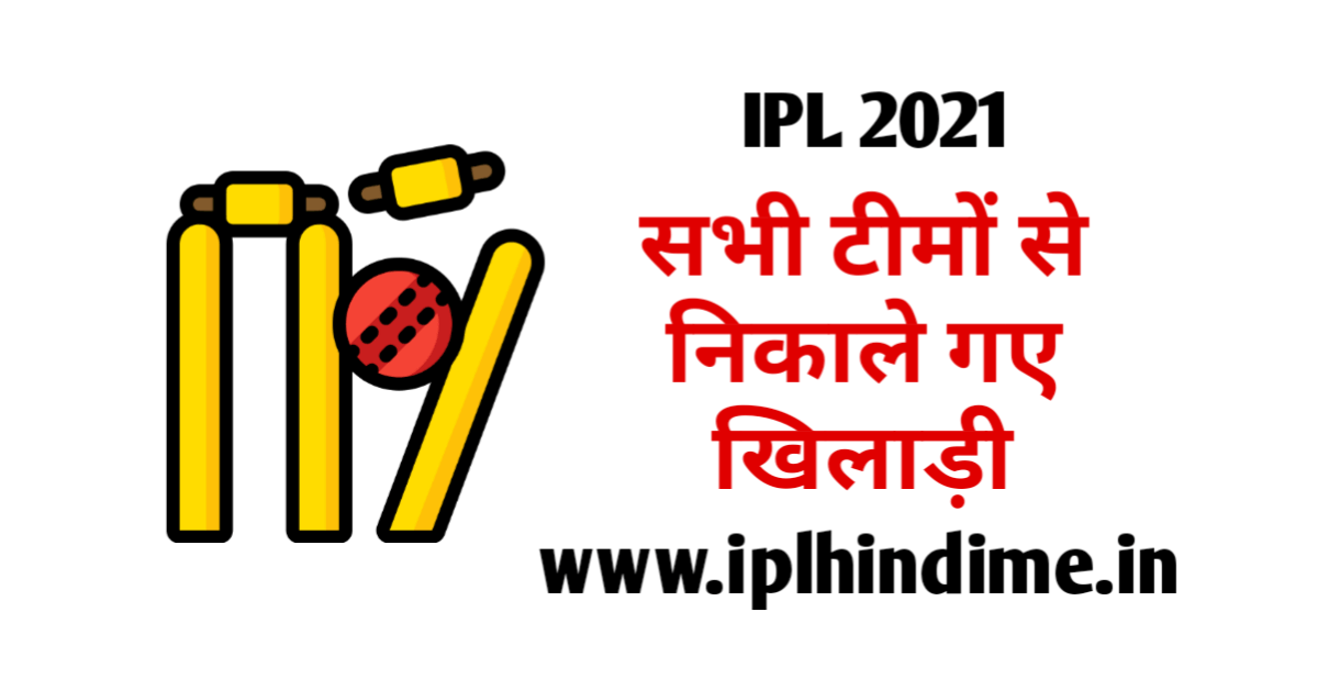 ipl 2021 released players list all team in hindi