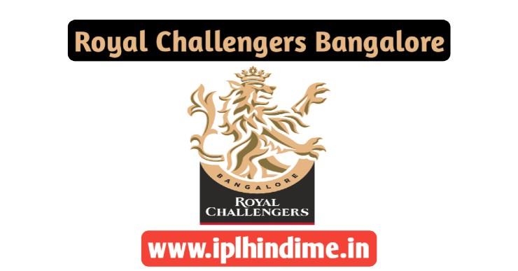 Royal Challengers Bangalore IPL Team 2021
