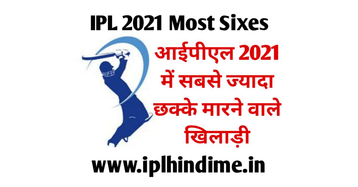 IPL 2021 Mein Sabse Jyada Six Kiske Hai List | आईपीएल 2021 में सबसे ज्यादा सिक्स (छक्के) किस खिलाड़ी के है
