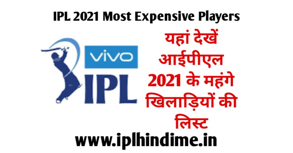 आईपीएल 2021 में सबसे महँगा खिलाड़ी - IPL 2021 Mein Sabse Mahanga Khiladi Kaun Hai