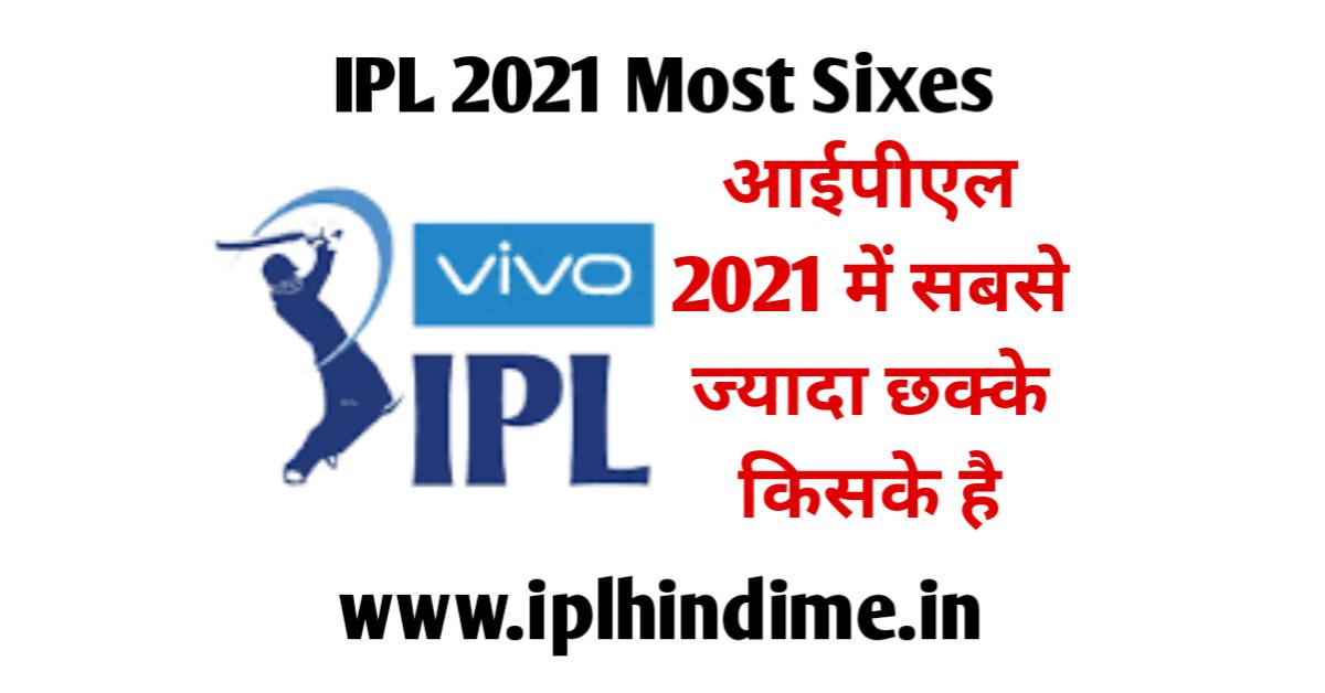 Sabse Jyada Six in IPL 2021 Kis Player Ke Hai