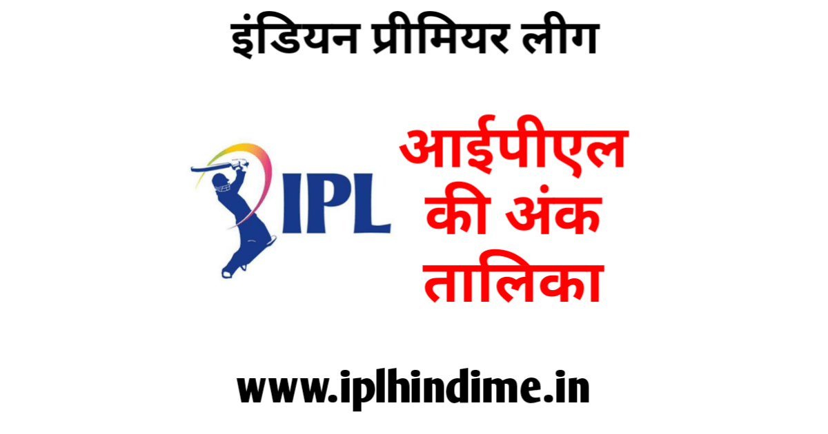 आईपीएल अंक तालिका