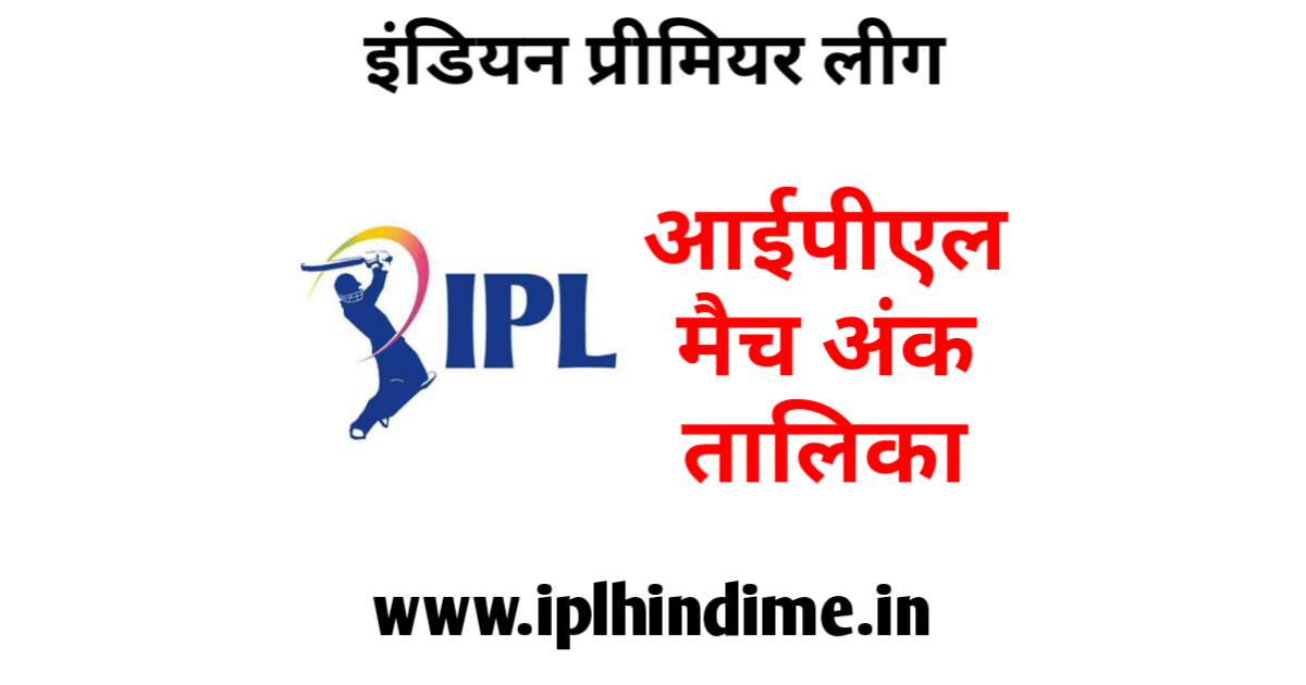 आईपीएल मैच अंक तालिका